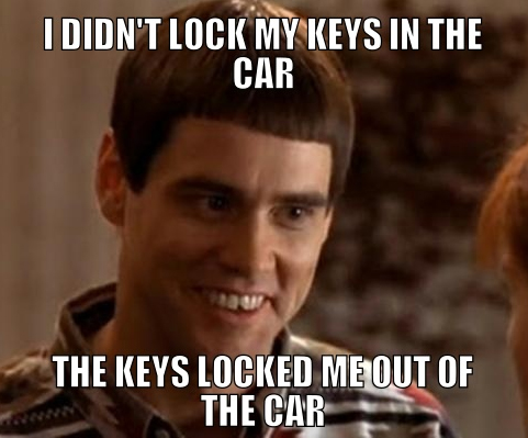 the cheapest solution when keys are locked in the car the