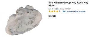 Rock hide a key